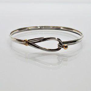 18K Y Gold and SS Vintage Tiffany Bracelet